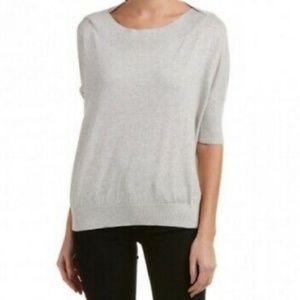 CAbi Gray Scoop Neck Lounge Sweater #200 XXS